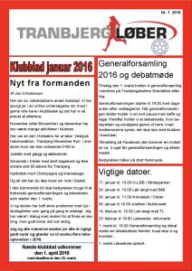 Klubblad 2016 forside