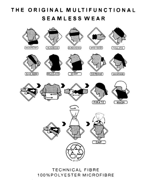 Illustrationer af halsedisse bindinger